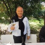 Nicola Di Sipio brinda con il suo champagne