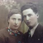 Giuseppe Di Sipio e Elisa Menicucci (oggi scomparsa) giovani sposi 22 anni lui e 21 lei