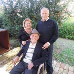 Nicola Di Sipio con il padre e la sorella Emilia